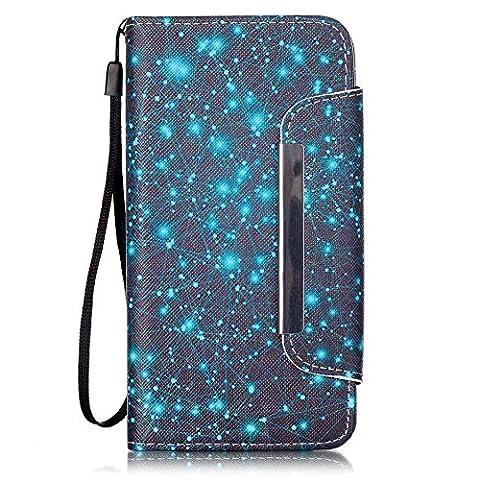 Chreey Coque Huawei Y6 / Honor 4A (5 pouces),PU Cuir Portefeuille Etui Housse Case Cover ,carte de crédit pour , serrures magnétiques, support pliable, idéal pour protéger votre téléphone