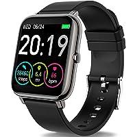 Smartwatch, Rinsmola Fitnessuhr 1.4 Zoll Voll Touchscreen Fitness Tracker mit Pulsmesser und Schlafanalyse…