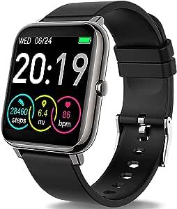 Motast Smartwatch Orologio Fitness Uomo Donna Smart Watch Contapassi Cardiofrequenzimetro da Polso, Smartband Sportivo Activity Tracker Cronometro, Notifiche Messaggi, Controller Fotocamera Musicale