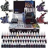 Solong Tattoo Kit del Tatuaje Completo 4 Maquina de Tatuaje 54 Tintas Fuente de Alimentacion Pedal Agujas Grips Consejos TK456