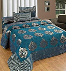 Premium Chenille Bed Cover with 2 Pillow Covers from Smiling Home | King Size | Sea Green