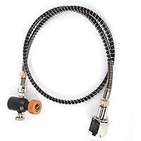 Kit de tuyau de ressort de 36 pouces Kit d'adaptateur de soda CO2 Valve de libération Or ASA externe W21.8-14//TR21-4…