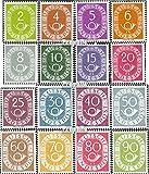 Prophila Collection BRD (BR.Deutschland) 123ND-138ND (kompl.Ausg.) Nachdruck der seltenen Ausgabe 1984 Posthorn Privater Nachdruck (Briefmarken für Sammler)