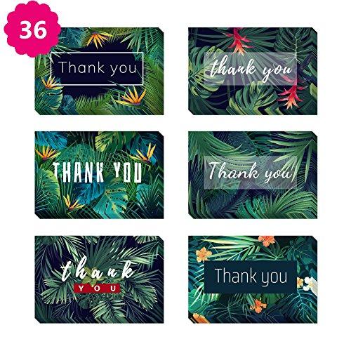 Morkka 36 Pack Kraftpapier Danke Karten Grußkarte Umschläge und Aufkleber für Hochzeit Graduation Men & Women Sympathie(Blatt) (Für Die Danke Sympathie-karten)