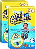 Huggies Little Swimmers Schwimmwindeln, Gr.2/3, 2er Pack (2 x 12 Windeln)