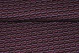 Unbekannt 1 m * 1,4 m - Stoff - Crash - Jersey / Baumwolljersey - Streifen Muster - lila / schwarz - Baumwolle - z.B. für Shirts u.v.m. Stoffe Meterware - Kleiderstoff ..