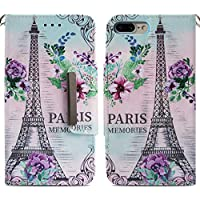 Handyhülle iPhone 7 Plus,HUDDU Paris Blumen Muster Rosa Schutzhülle iPhone 7 Plus Hülle Flip Leder Tasche Slim... preisvergleich bei billige-tabletten.eu