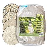 MGS SHOP 25kg Koniferen-Sand Quarzsand für Nadelgehölze - Kiefer, Zypresse, Eibe, Thuje & Bonsai kalkfrei 0,1-0,3 mm