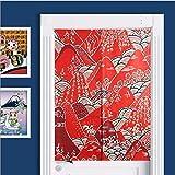 SHUNSHUNML Vorhang Vorhang Aus Japanischer Baumwolle Leinen Vorhang Feng Shui Vorhang Wohnzimmer Dekorativer Vorhang Auf Benutzerdefinierte Karte 85 × 120 cm