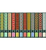 File Art - Ordnerrücken Design Etiketten - Motiv'Pattern' für 12 schmale Aktenordner als Kollektion FA-AJ607+608