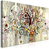 murando Impression sur Toile intissee Gustav Klimt 120x60 cm Tableau 1 Peice Tableaux Decoration Murale Photo Image Artistique Photographie Graphique Arbre Pierre Art l-A-0033-b-a