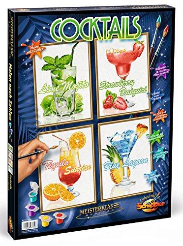 Malen nach Zahlen - Cocktails Quattro je, 18 x 24 cm (Malvorlagen Für Den Sommer)