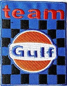 New Golf Team Karierte Flagge Motor Öl Benzin Gas Station Pumpe Racing Biker MotoGP Motorcorss Logo Jacke Patches Aufnäher auf gesticktes