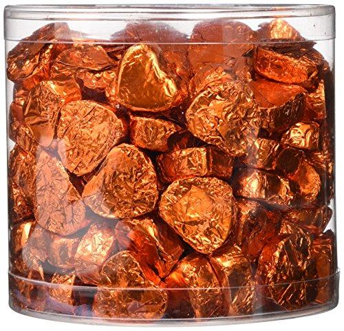 Günthart Kleine Schokoladen-Herzen, orange, 1er Pack (1 x 1.1 kg) (Schokoladen-orangen-trüffel)