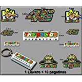 PEGATINAS Y LLAVERO 46 VALENTINO ROSSI THE DOCTOR AM10 E STICKERS AND KEY RING AUFKLEBER VINILOS ADESIVI DECALS (MODELO 6/MODEL 6)