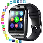 LayOPO Smart Watch mit Kamera, Q18 Bluetooth SmartWatch Wasserdicht Sport Smart Fitness Tracker Armbanduhr mit Sim Card...