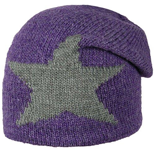 Döll Bohomütze Strick - Bonnet - Fille Violet (prism Violet 7030)