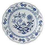 Hutschenreuther 02001-720002-10025 - Piatto fondo con ala, motivo: cipolle, 25 cm, blu