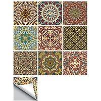 Decdeal Fliesenaufkleber Mosaikfliesen Selbstklebend Abnehmbar DIY Küche  Badezimmer Wandaufkleber Hochauflösende Bilder Für Fliesen, Keramik,