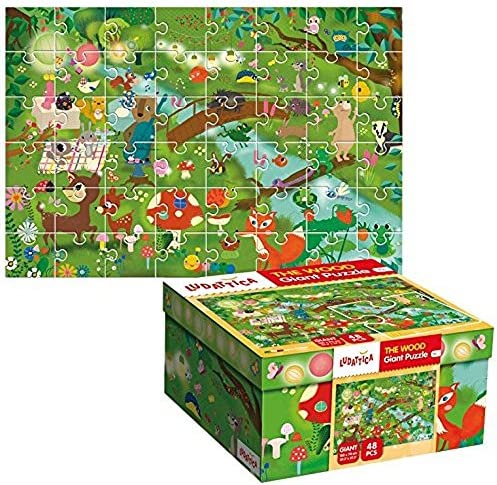 PLAYWELL PLAYWELL PLAYWELL Puzzle géant La forêt Puzzle Ludattica 3 Ans | Conception Habile