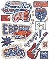 Livingwalls Wandsticker Esprit Kids, Route 68, Aufkleber, selbstklebend, blau, bunt, orange, 64 cm x 53 cm von Livingwalls - TapetenShop