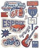 Livingwalls Wandsticker Esprit Kids, Route 68, Aufkleber, selbstklebend, blau, bunt, orange, 64 cm x 53 cm