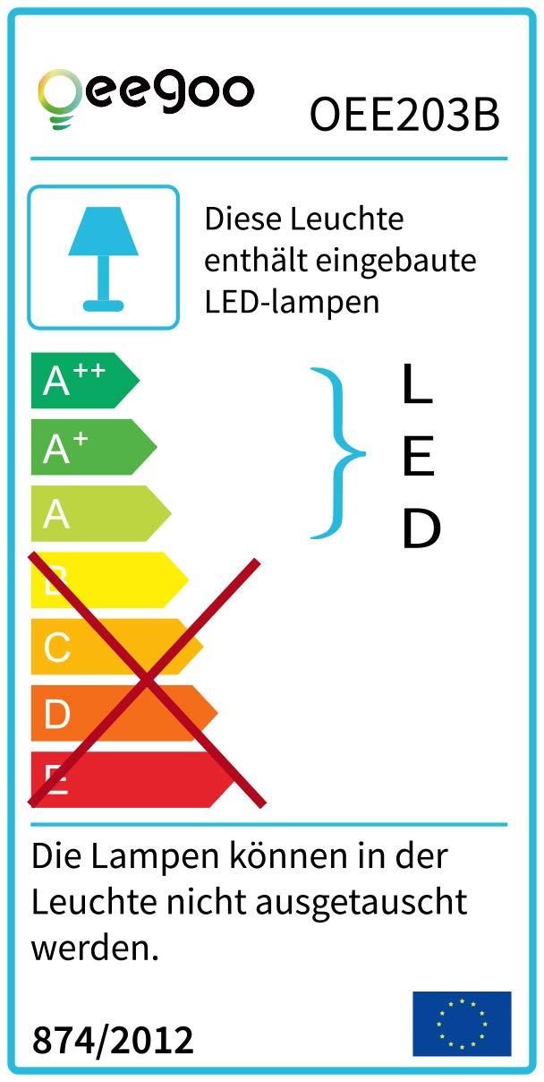 Oeegoo Ultraslim lampada a LED da soffitto rotonda 6 W 12 W 18 W 24 W, adatta per camera da letto, soggiorno, corridoio, camera dei bambini, cucina, veranda, terrazza