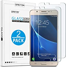 [2 Stück] OMOTON Panzerglas Displayschutzfolie nur für Samsung galaxy J5 2016 [5,2 zoll ], Anti-Kratzen, Anti-Öl, Anti-Bläschen, lebenslange Garantie
