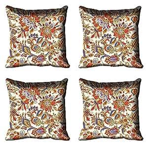 meSleep Ethnic Digitally Printed Cushion Cover - Set of 4