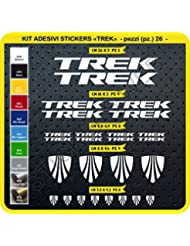 Trek Cód. 0115 - Kit de pegatinas para bicicleta, 26 unidades, de colores a elegir, Bianco cod. 010
