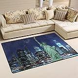 JSTEL ingbags Super Weich Modern Statue of Liberty New York City, ein Wohnzimmer Teppiche Teppich Schlafzimmer Teppich für Kinder Play massiv Home Decorator Boden Teppich und Teppiche 152,4x 99,1cm