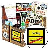 Ortsschild 50 ++ Geschenkbox DDR Männer ++ Geschenke zum 50 Geburtstag Frau