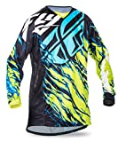Fly Racing Kinetic Motocross/Mountainbike Jersey Kids Relapse lime-blau YXL