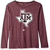 NCAA Texas A&M Aggies Womens Her Full Color Primary Logo L/s Crew Teeher Full Color Primary Logo L/s Crew Tee, Maroon, Medium