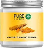 Pure Organic Sky Morn- Pure Kasturi Turmeric face pack for Skin Lightening & Tan Removal Curcuma Aromatica/Jangli Haldi…