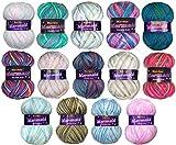 Marriner Mermaid Bumper Pack   Double Knit Yarn   100% Acrylic   5 x 100g Balls