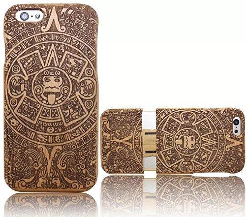 Wooden Case Cover,Vandot Unico Reale Handmade Legno [Naturale WoodBack Lavorato Custodia] Per Apple iPhone 6 6S 4.7 Pollici - [Cranio] Style 14
