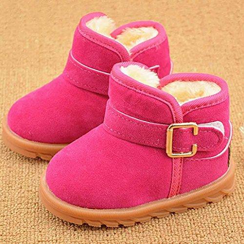 Hunpta Winter-Baby Schneestiefel Kind Stil Baumwolle Stiefel warme (Alter: 24-28M, Hot Pink) Hot Pink