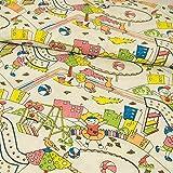 Stoffe Werning Baumwollstoffwie gemalt Kinderspielplatz Kinderstoff -Preis gilt für 0,5 Meter-