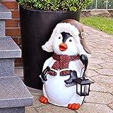 MW Handel Pinguin XXL Figur Solar Lampe Weihnachten Weihnachtsdekoration Xmas Winterdekoration
