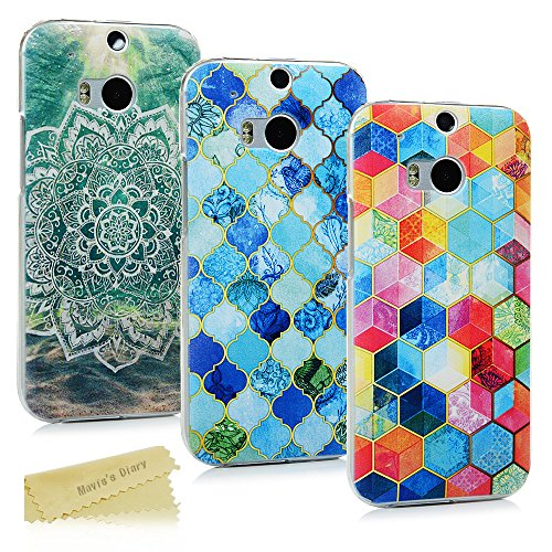 3-pack-maviss-diary-htc-one-m8-case-3-pcs-ultra-thin-clear-hard-pc-cover-easy-grip-slim-fit-painting
