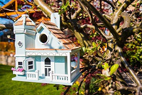 Garden Bazaar hb-9095Flower Pot Cottage casa de pájaros, Color Azul