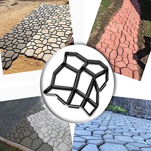 Pflastersteine Schimmel, Path Maker Backform, wiederverwendbare Beton Zement Stein Design Maschine Walk Maker Form, Muster für Pflastersteine Pflaster Garten Fußweg -