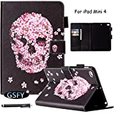 iPad Mini 4 Case, Newshine Flip Colorful Leather Case Cover Built-in Sleep/Wake Feature