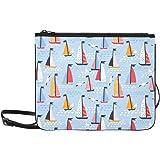 Generies Taschen Mode niedlich schönen Sommer auf dem Meer Boot verstellbare Schultergurt Outdoor Clutch Tasche für Frauen Mä