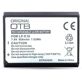 Onni-Tec - Batteria per LP-E10 / Canon EOS 1100D, 7,4 V, agli ioni di litio