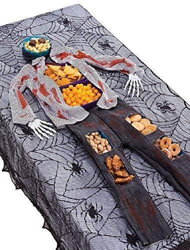 Kostüm Zombie Hot Dog - Fancy Me Halloween Zombie Skelett Nahrung Hof Tischplatte Wiederverwendbar Party Lebensmittelbehälter Kostüm Kleid Outfit Dekoration Requisit