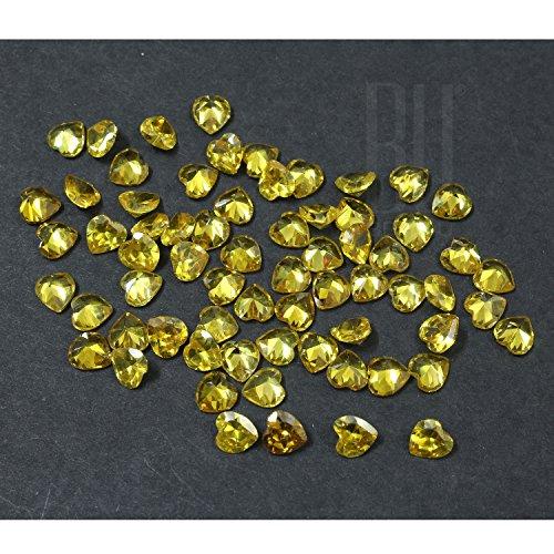 Be You Jaune Couleur Zircone Cubique AAA Qualité Diamant Coupe Coeur Forme gemme
