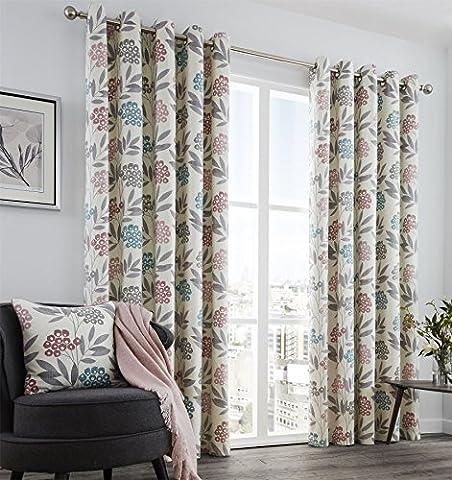 Keri Lined Eyelet Curtains 46