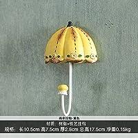 FuRongHuang The Living Room Decoration Umbrella Hook Key Hook Hook Wall Princess Dress Coat Hook,Yellowish Round Bottom Umbrella Hook